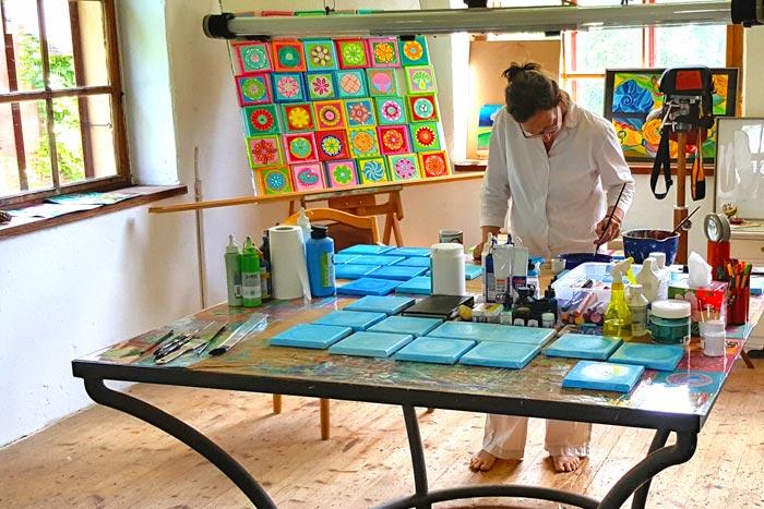 Clara Morgenthau im Atelier
